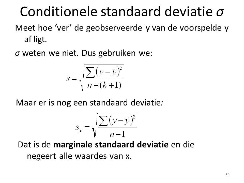 Conditionele standaard deviatie σ