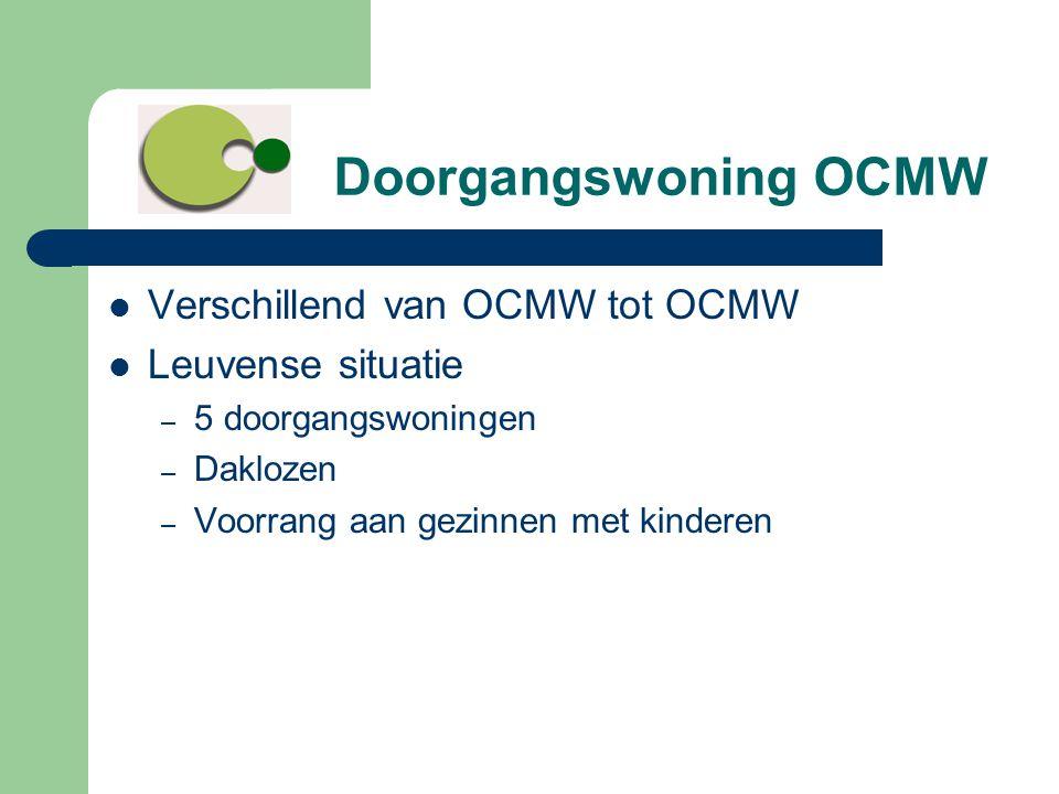 Doorgangswoning OCMW Verschillend van OCMW tot OCMW Leuvense situatie