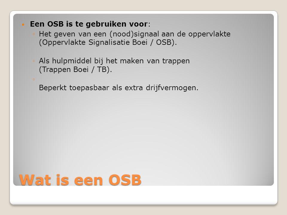 Wat is een OSB Een OSB is te gebruiken voor: