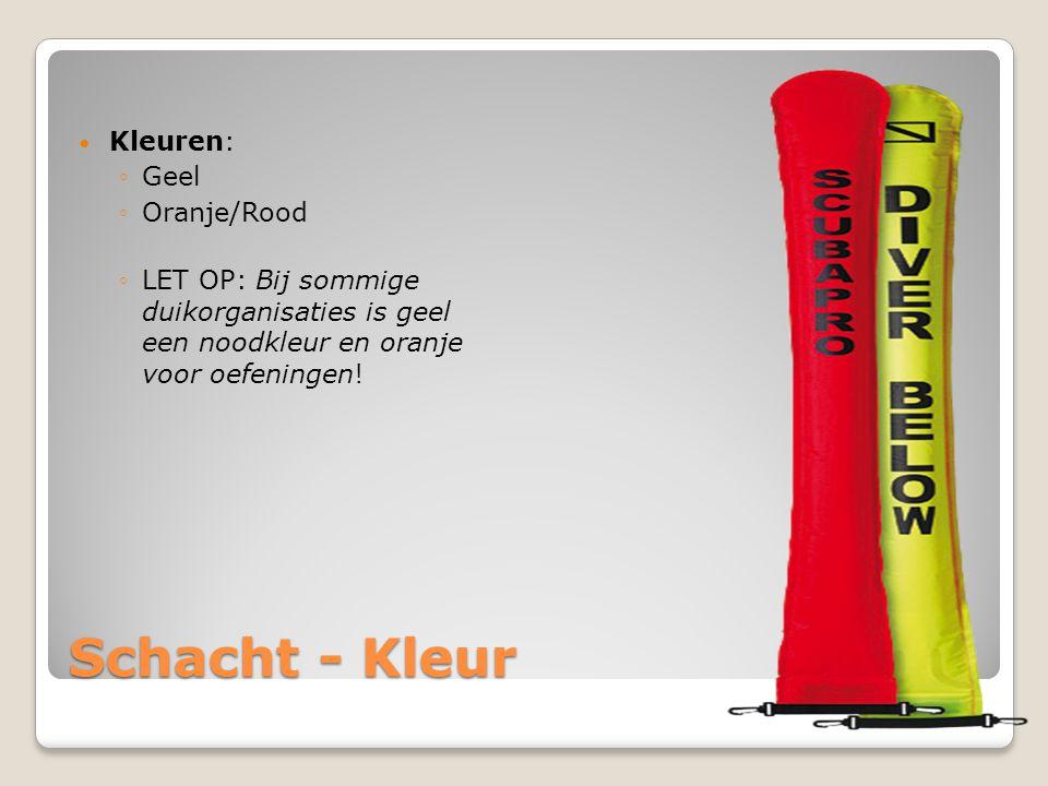 Schacht - Kleur Kleuren: Geel Oranje/Rood
