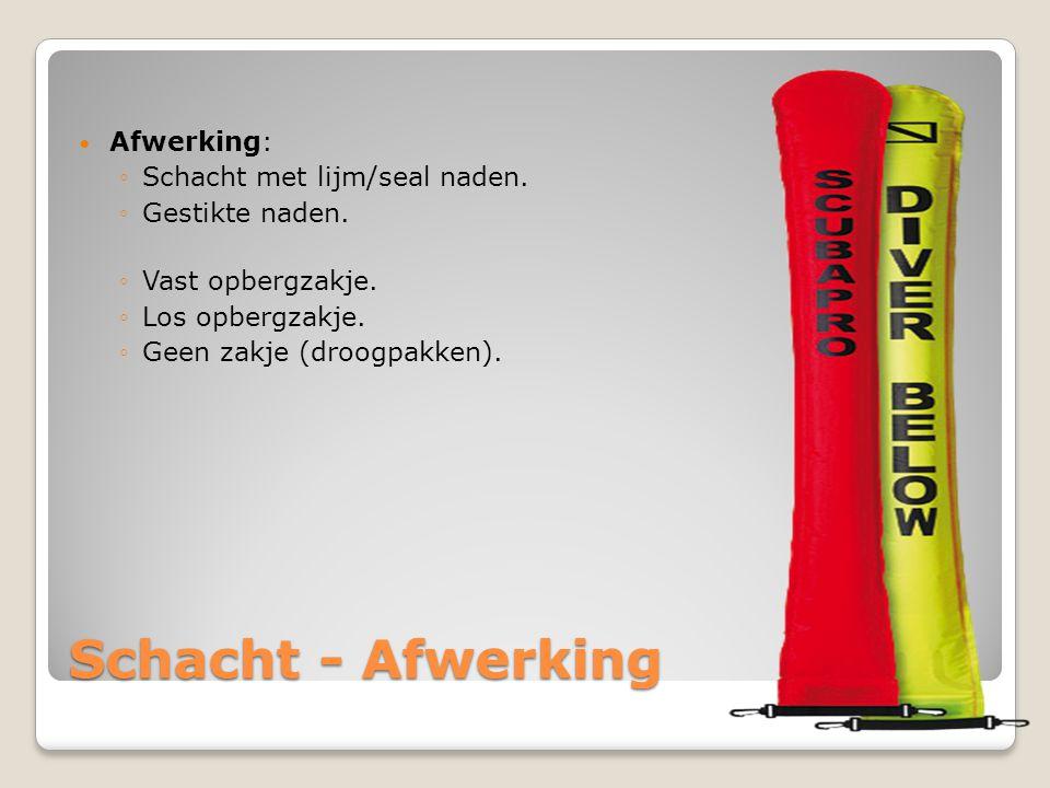 Schacht - Afwerking Afwerking: Schacht met lijm/seal naden.
