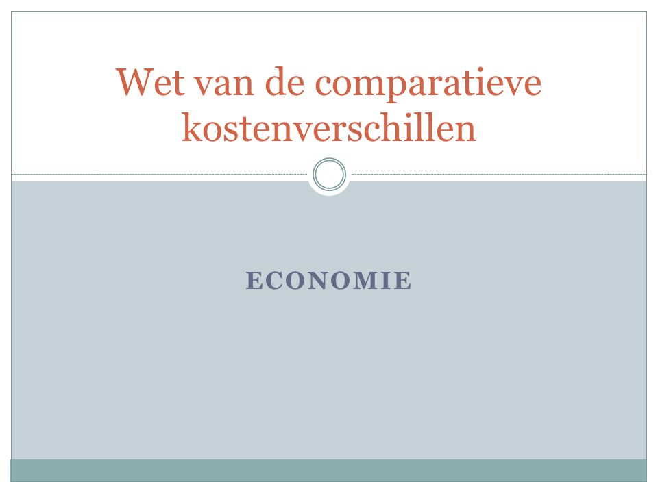 Wet van de comparatieve kostenverschillen