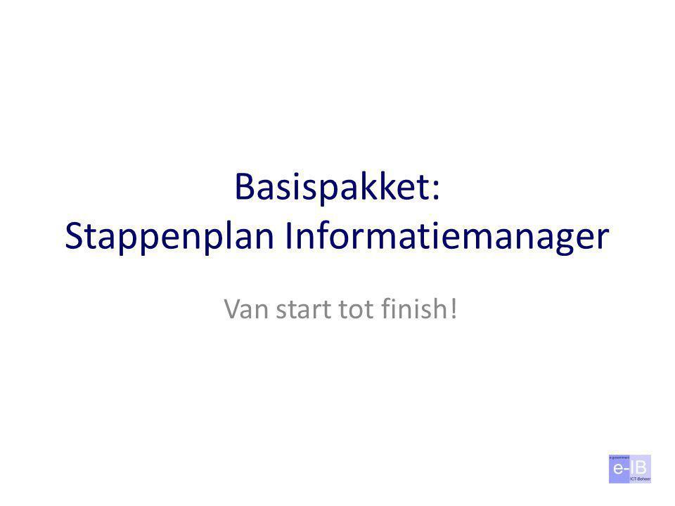 Basispakket: Stappenplan Informatiemanager