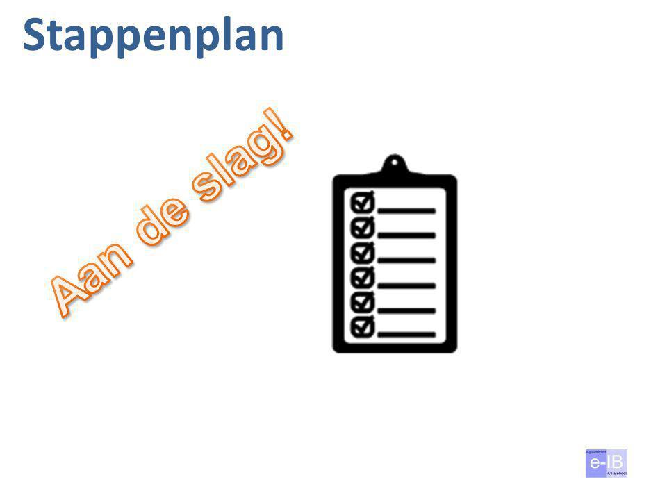 Stappenplan Aan de slag! 3 april 2017 Verantw; proced; middelen