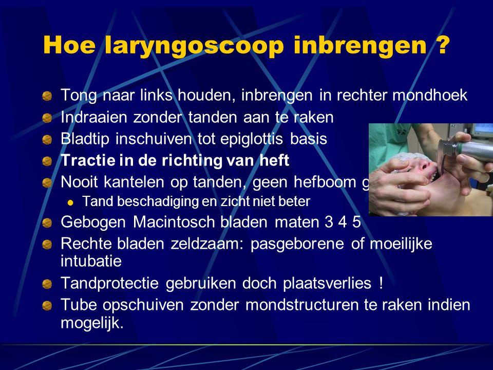 Hoe laryngoscoop inbrengen