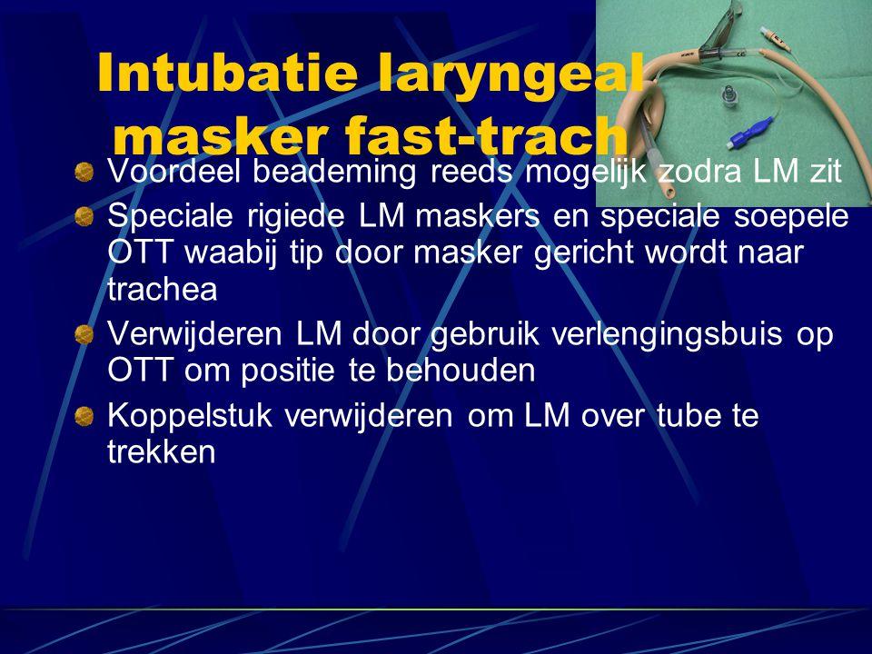 Intubatie laryngeal masker fast-trach