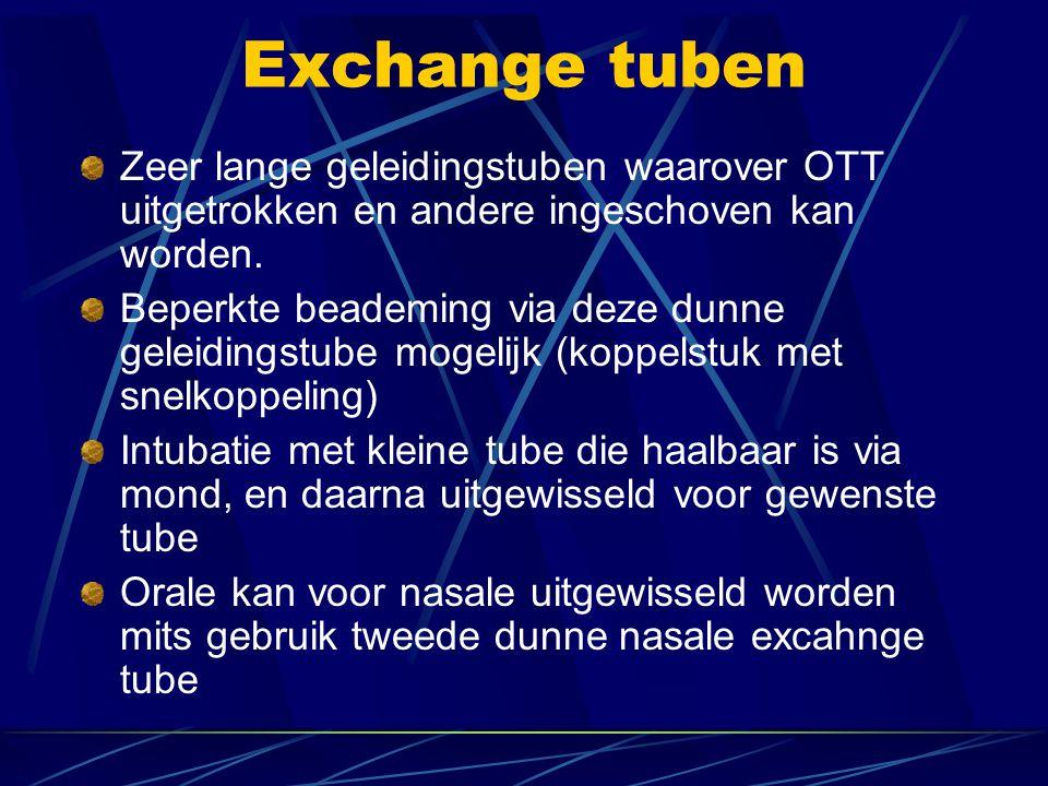 Exchange tuben Zeer lange geleidingstuben waarover OTT uitgetrokken en andere ingeschoven kan worden.