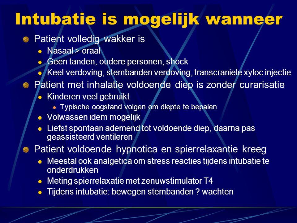 Intubatie is mogelijk wanneer