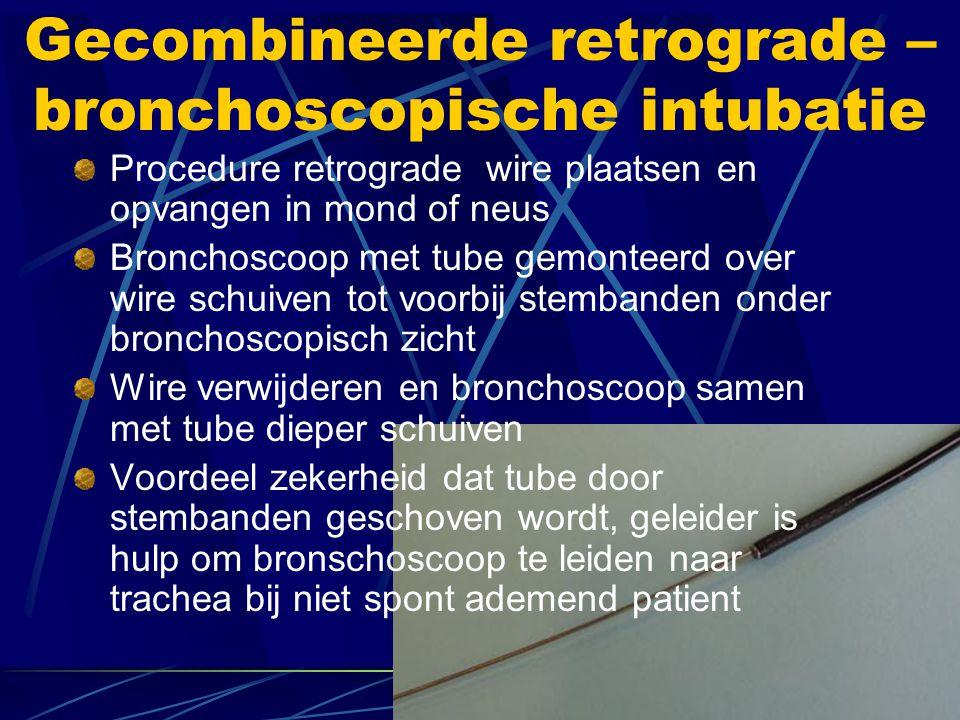 Gecombineerde retrograde – bronchoscopische intubatie