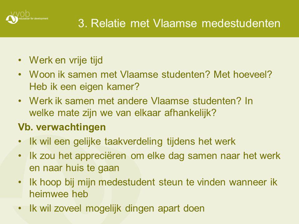 3. Relatie met Vlaamse medestudenten