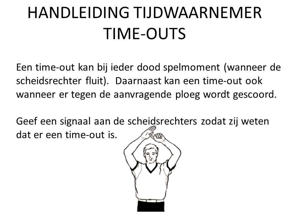 HANDLEIDING TIJDWAARNEMER TIME-OUTS