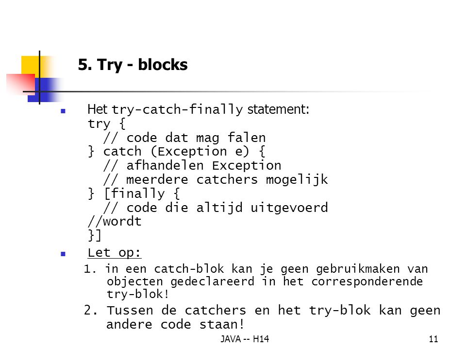 5. Try - blocks