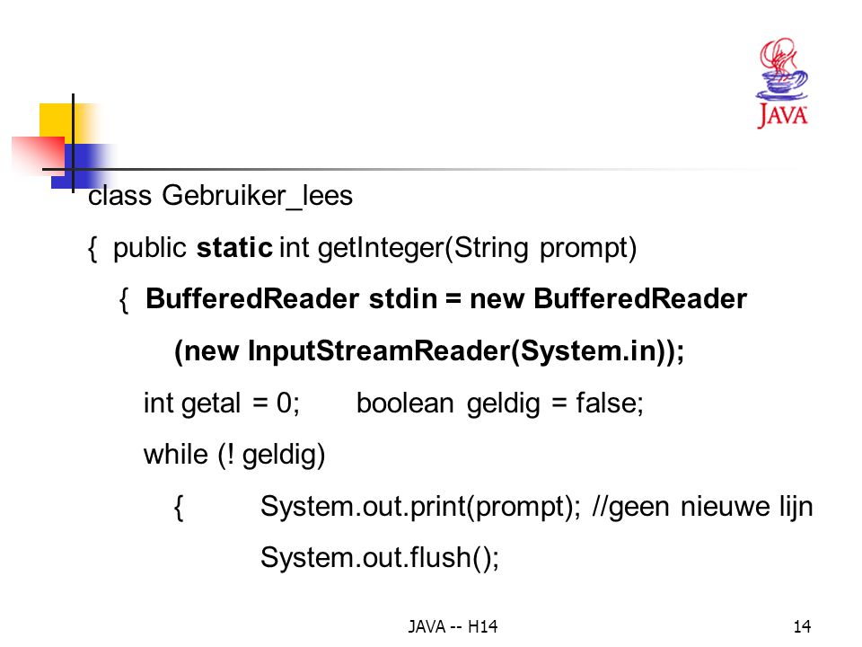 { public static int getInteger(String prompt)