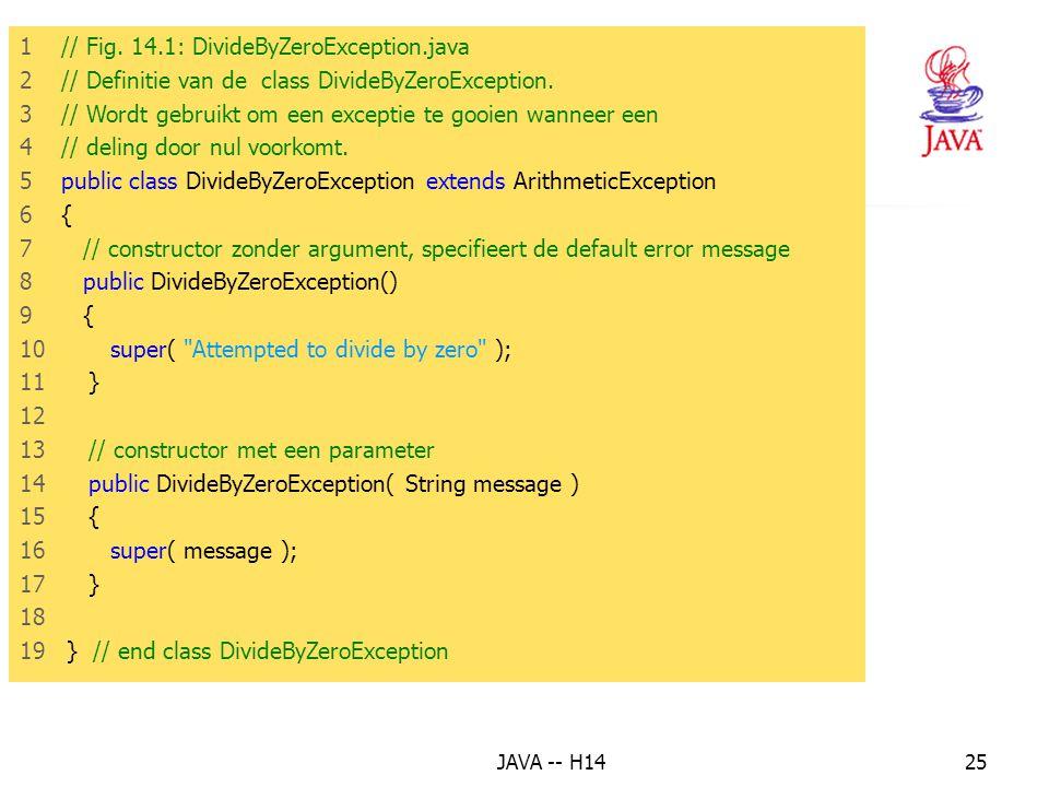 8. Voorbeeld : de exceptie delen door 0 afhandelen (2)