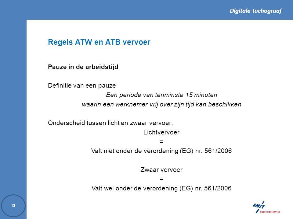 Regels ATW en ATB vervoer