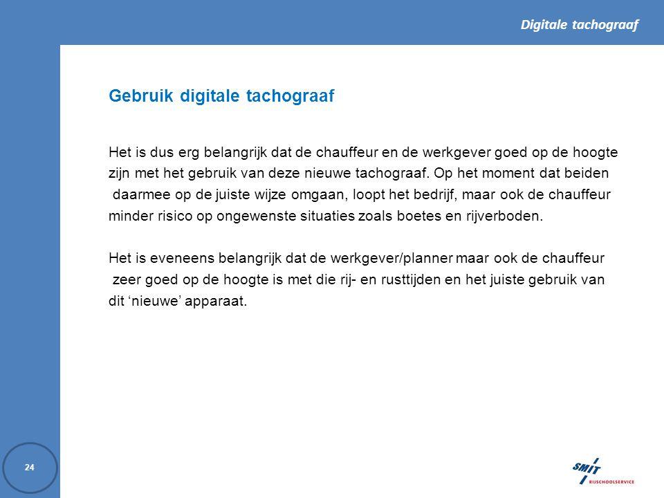 Gebruik digitale tachograaf