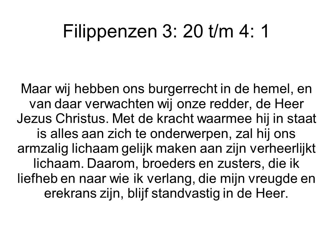 Filippenzen 3: 20 t/m 4: 1