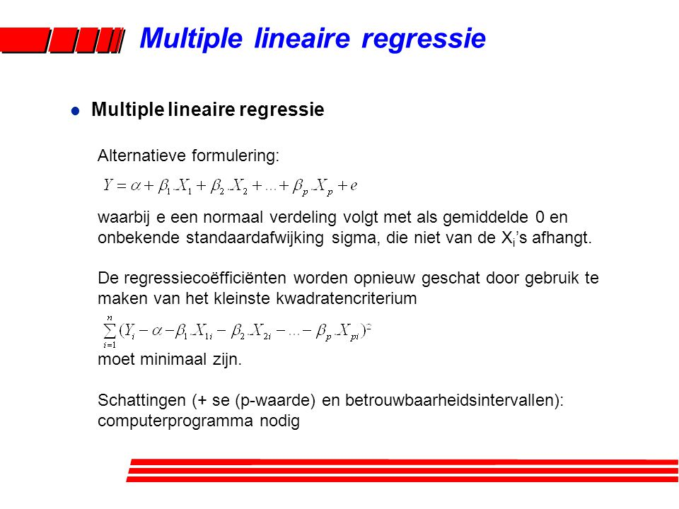 Multiple lineaire regressie