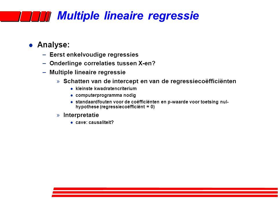 Multiple lineaire regressie
