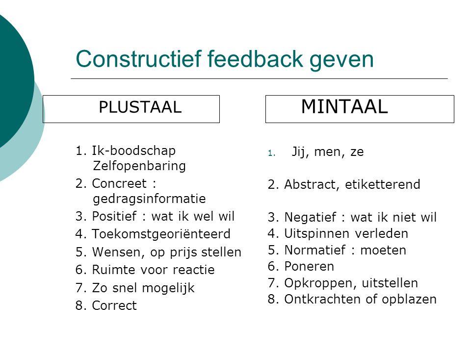 Constructief feedback geven
