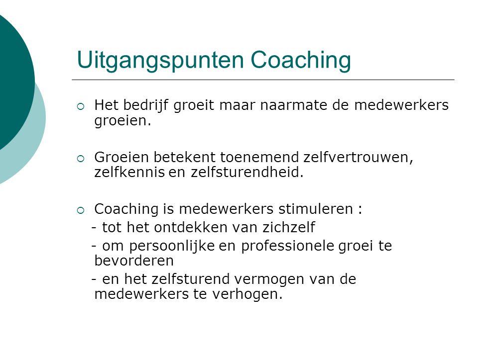 Uitgangspunten Coaching