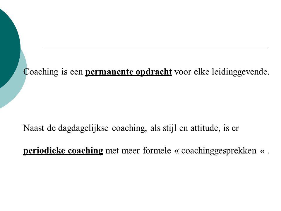 Coaching is een permanente opdracht voor elke leidinggevende.