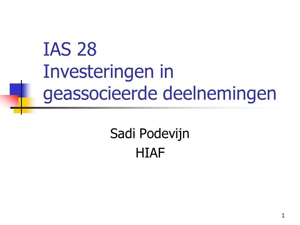 IAS 28 Investeringen in geassocieerde deelnemingen