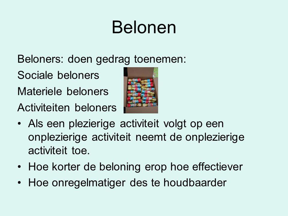 Belonen Beloners: doen gedrag toenemen: Sociale beloners