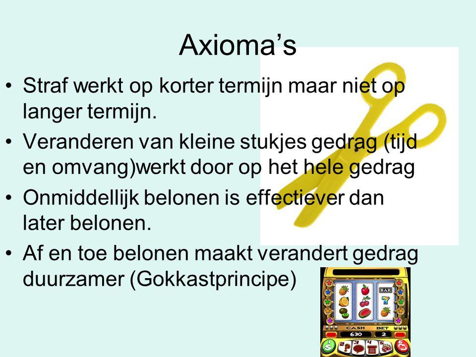 Axioma's Straf werkt op korter termijn maar niet op langer termijn.
