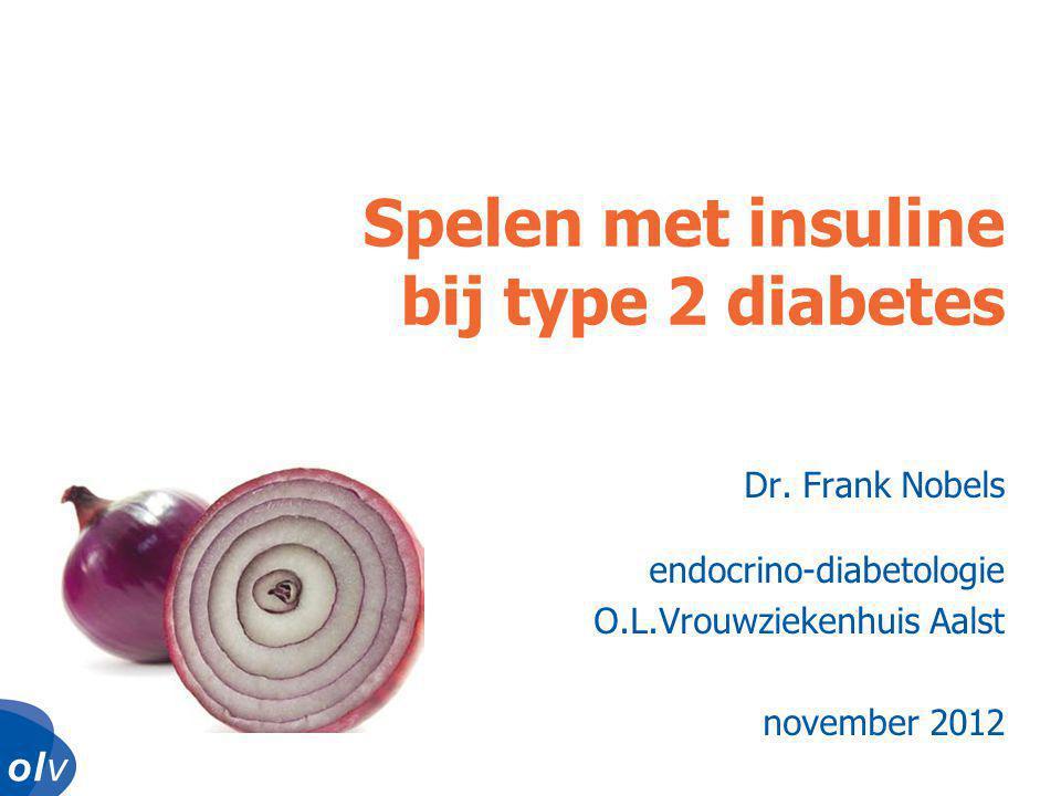 Spelen met insuline bij type 2 diabetes