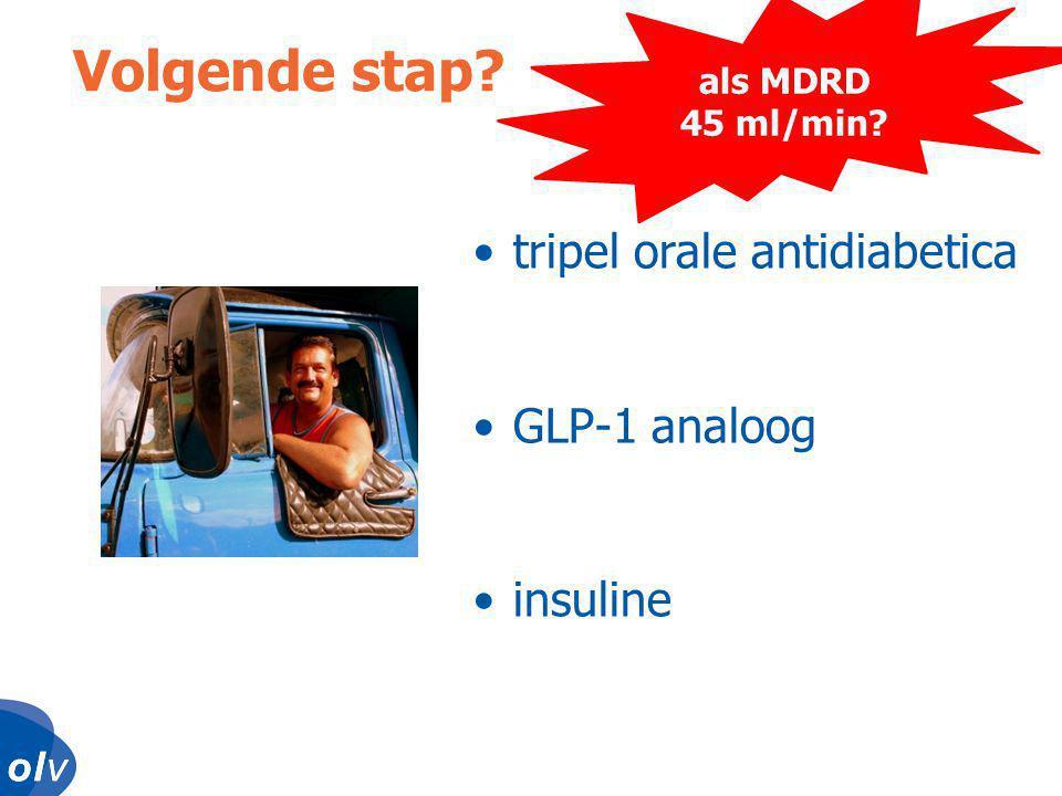 Volgende stap tripel orale antidiabetica GLP-1 analoog insuline