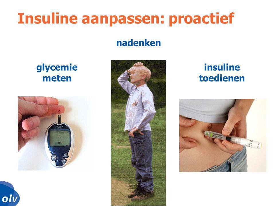 Insuline aanpassen: proactief