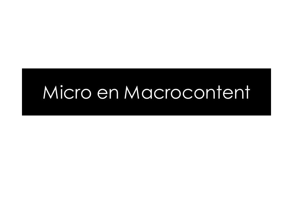 Micro en Macrocontent