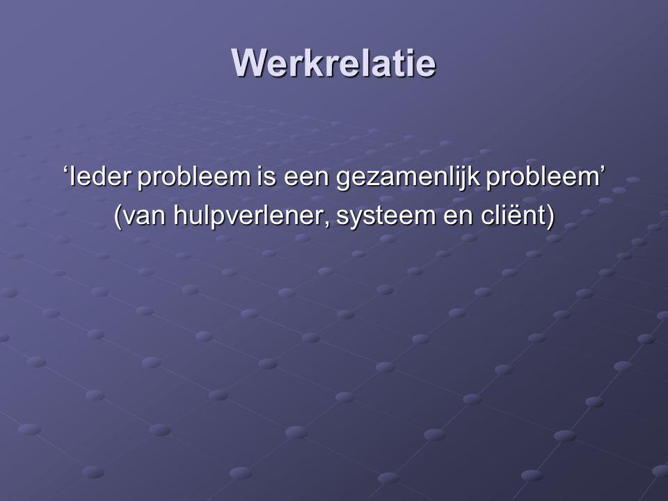 Werkrelatie 'Ieder probleem is een gezamenlijk probleem'