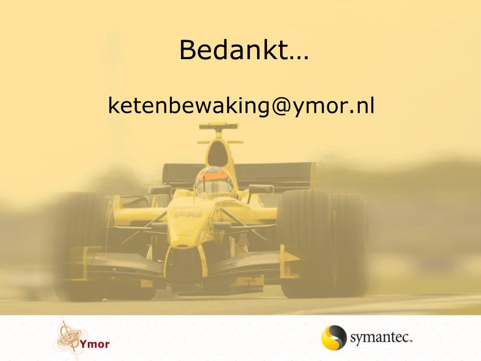 Bedankt… ketenbewaking@ymor.nl