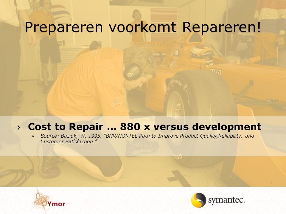 Prepareren voorkomt Repareren!