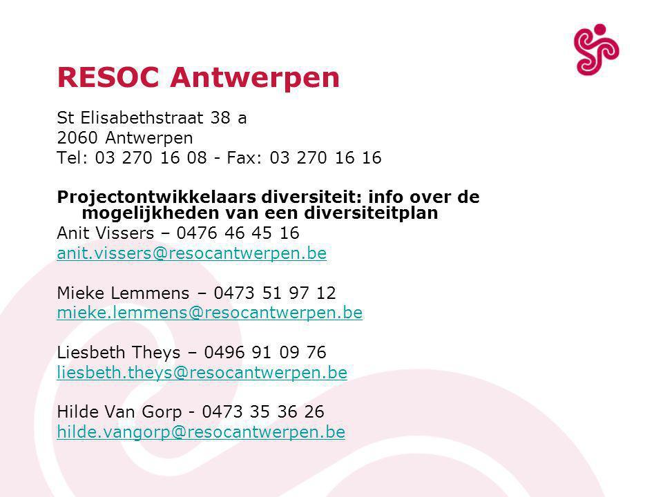 RESOC Antwerpen St Elisabethstraat 38 a 2060 Antwerpen
