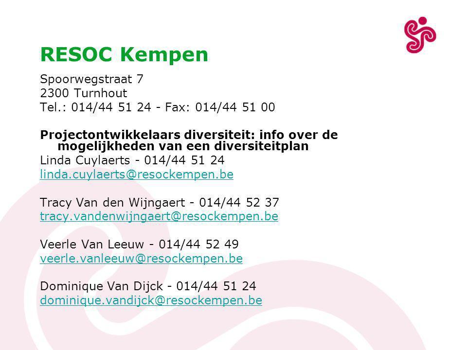 RESOC Kempen Spoorwegstraat 7 2300 Turnhout