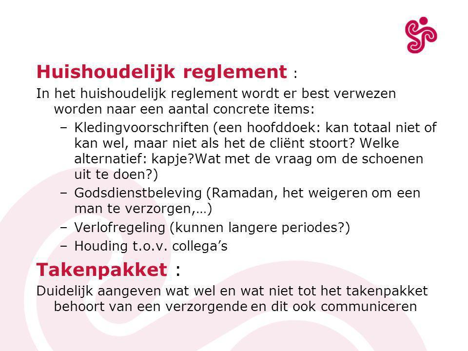 Huishoudelijk reglement :