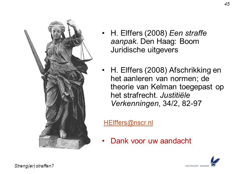 H. Elffers (2008) Een straffe aanpak