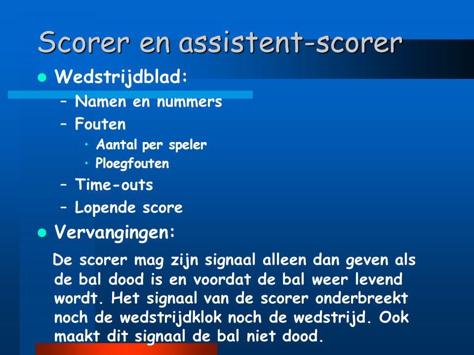 Scorer en assistent-scorer