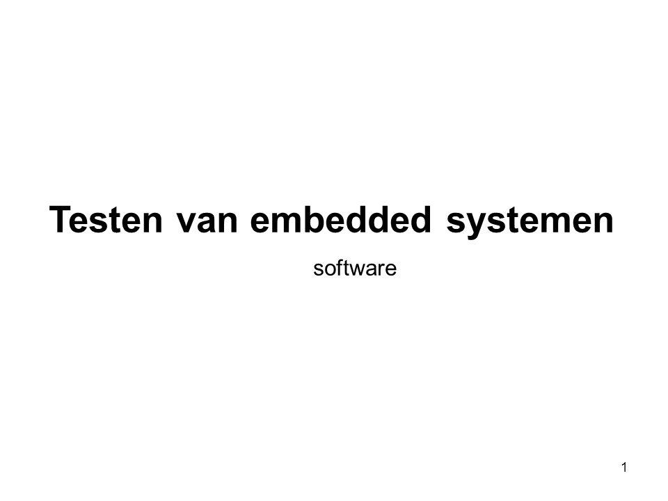 Testen van embedded systemen