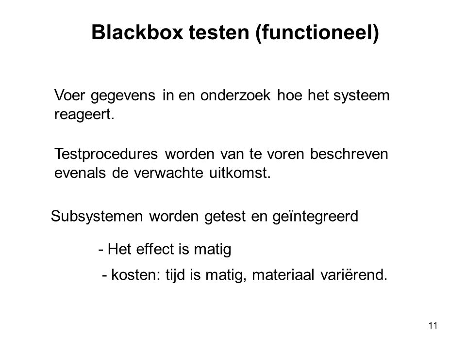 Blackbox testen (functioneel)
