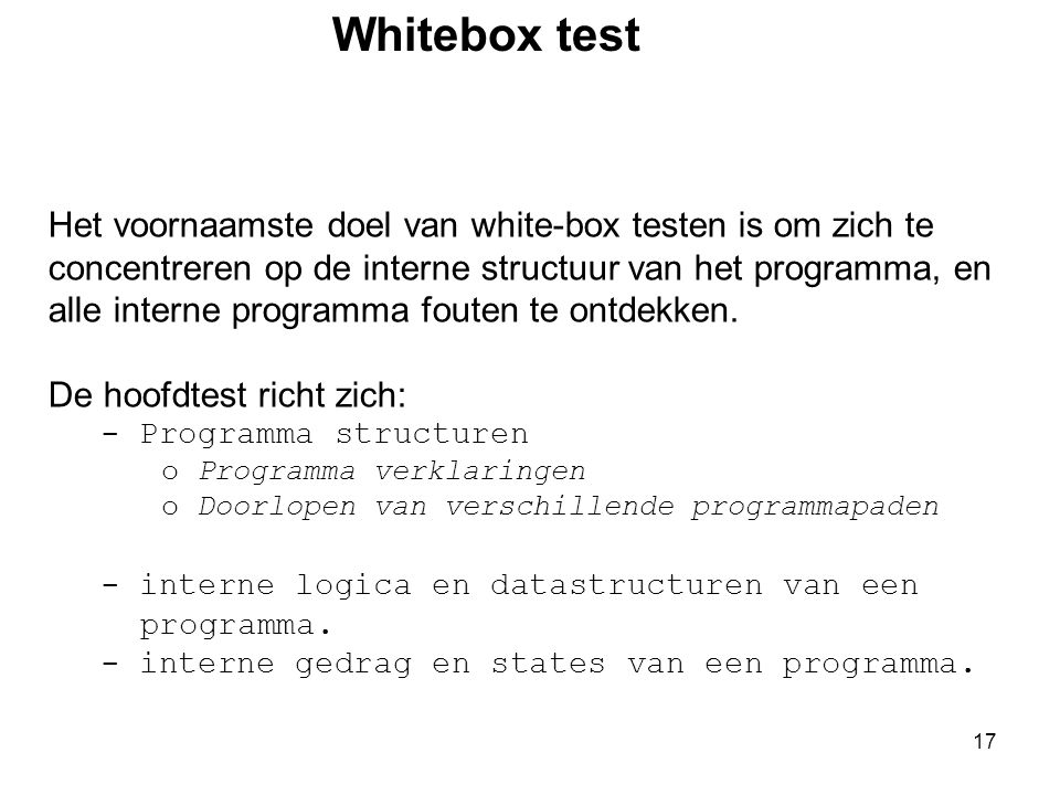 Whitebox test