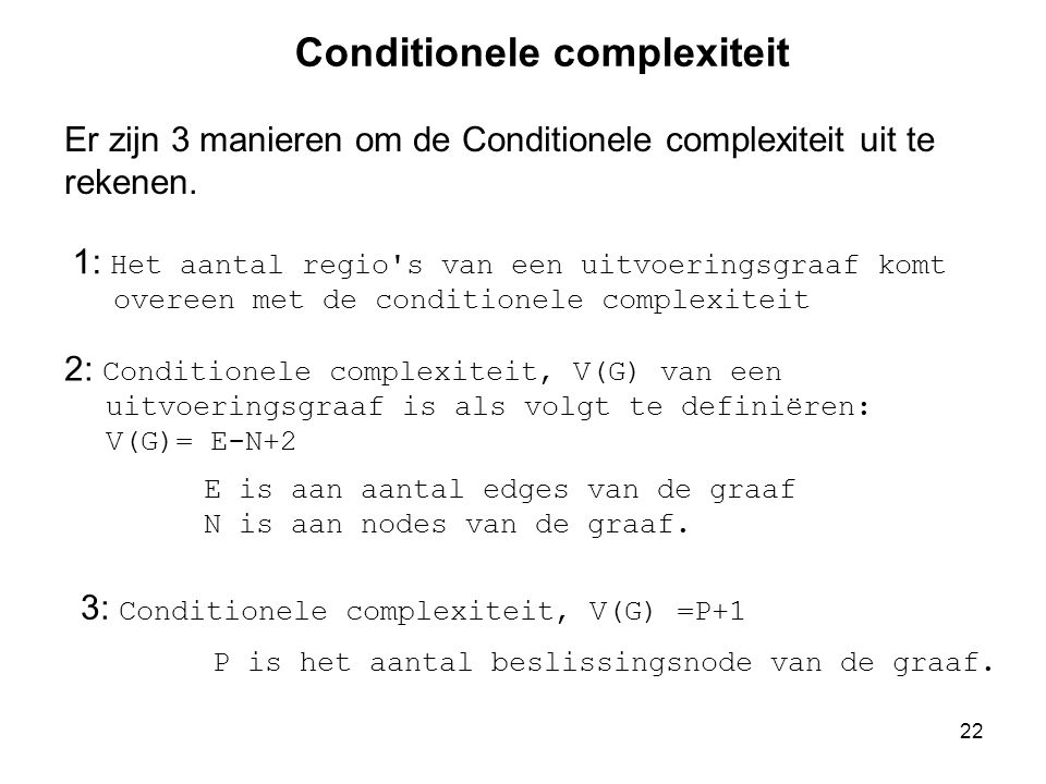 Conditionele complexiteit