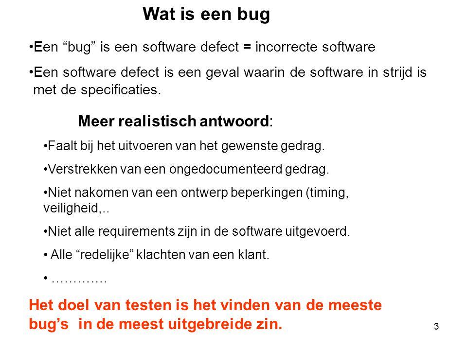 Wat is een bug Meer realistisch antwoord: