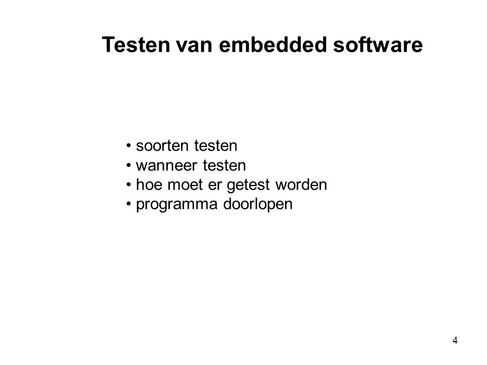 Testen van embedded software