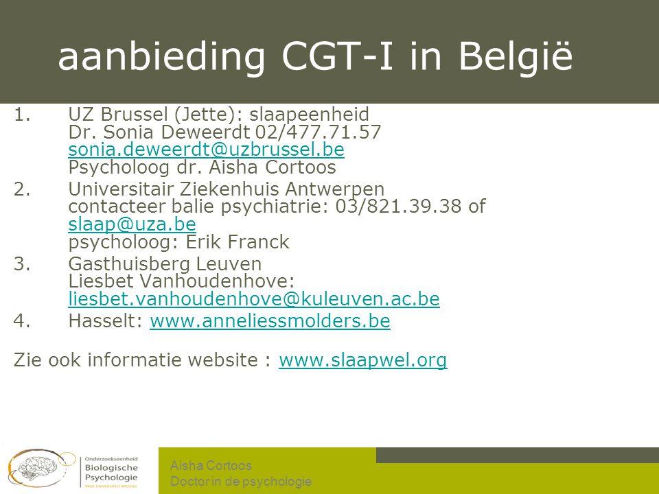 aanbieding CGT-I in België
