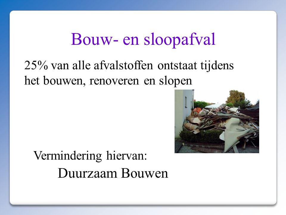 Bouw- en sloopafval Duurzaam Bouwen