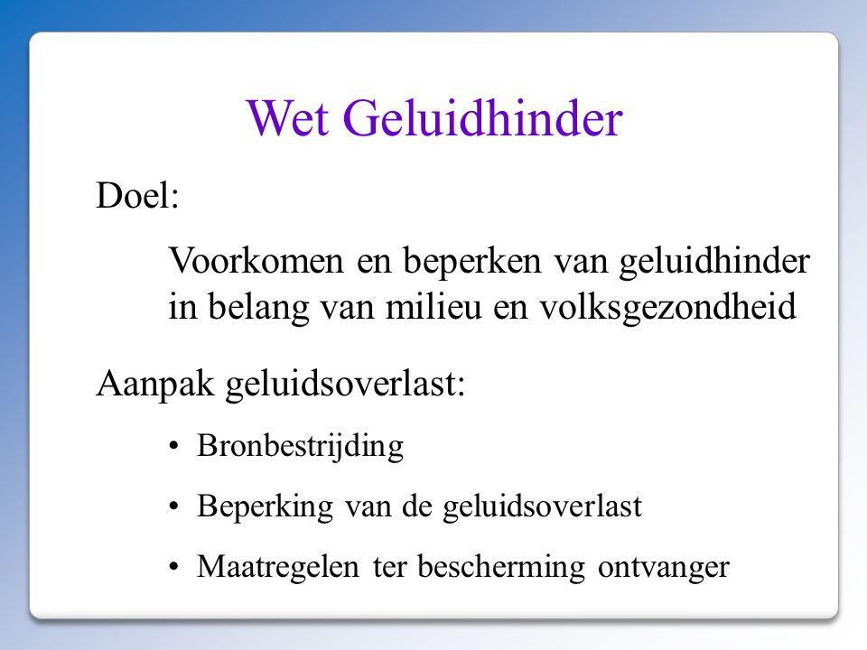 Wet Geluidhinder Doel: